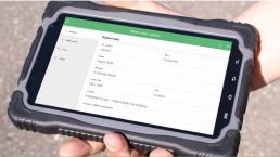 Digital work order on a tablet